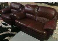2 + 1 Leather sofa & chair