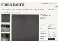 New Dark grey ceramic tiles from Fired Earth