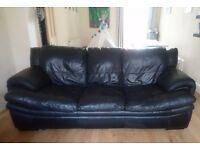 Black three seater sofa