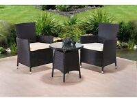 **FREE UK DELIVERY 1-3 DAYS!** 3pcs Rattan Conservatory Garden Furniture - BRAND NEW!