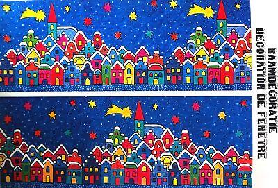 Fensterbild Weihnachten,verträumte Winterlandschaft,neu