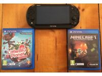 PSvita included with mine craft and little big planet. All in working and good condition.