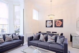 Somerset Court W8. A large three double bedroom ground floor flat .