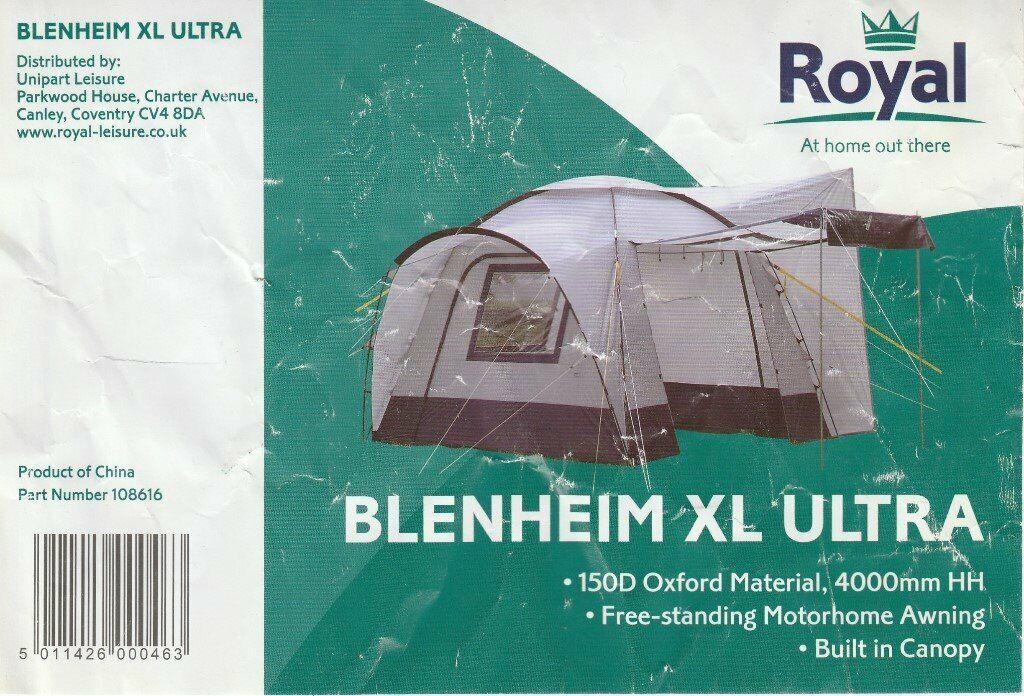 Royal Blenheim XL Ultra Motorhome Awning | in Wellingborough,  Northamptonshire | Gumtree