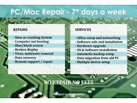 PC / Mac / Laptop repair, upgrade & office networking - 7 days a week