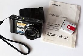 Sony CyberShot DSC HX5 Digital Camera + Sony batteries & charger, carry strap, carry case & manual