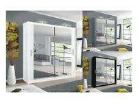 💛💛High Quality💛💛 BRAND NEW BERLIN 2 DOOR SLIDING WARDROBE WITH FULL MIRROR -EXPRESS DELIVERY