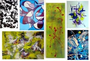 ORIGINAL PAINTINGS Oakville SMALL to HUGE ART Abstract Impressionist Surrealist Colorful BW 905-510-8720