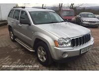 2008 Jeep Grand Cherokee 3.0 CRD Diesel LIMITED 4x4 auto FULL SPEC Nav and DVD screen, 89k mot Dec