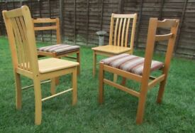 4 dining chairs mix and match GDR and plantation wood solid wood chairs DELIVERY WITHIN LE3