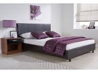 New 4ft6 double leather bed free delivery