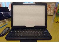 Tablets bluetooth keyboard with leather case(compatible with iPad/Samsung etc)