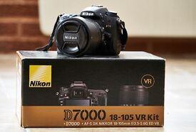 Nikon D7000 + 18-105mm VR lens
