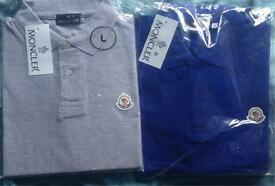 New Men's Moncler & Hugo Boss Polo Shirts small medium large and XL