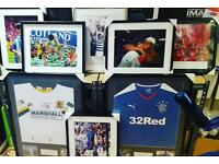 Memorabilia & shirt framing from £20