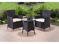 **FAST AND FREE UK DELIVERY** 3-Piece Rattan Garden Conservatory Furniture - 50% OFF!