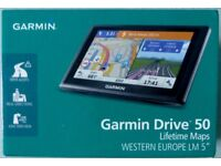 "Garmin Drive 50 LM 5"" Sat Nav with Western Europe Maps"