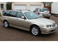 Rover 75 Club SE Tourer Estate Car, Only 38432 Miles, Full Service History, Elderly Owner 14 Years..
