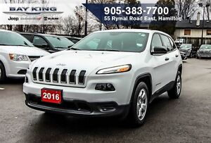 2016 Jeep Cherokee SPORT, BLUETOOTH, A/C, PWR WINDOWS, CRUISE