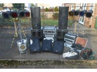 Complete band PA & Light system ideal for pubs & clubs, Quality equipment, perfect working order