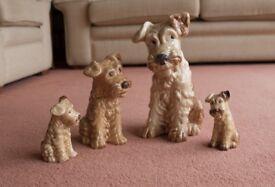 Sylvac Beige & Brown Terrier Dog Collection