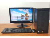 HP PC Computer Windows 10, Intel i5-6500 8GB RAM 1TB HDD & 128GB SSD