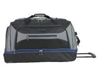 Large Wheeled Holdall - 30 inch Travel Holdall (Black/Grey/Blue) NEVER USED
