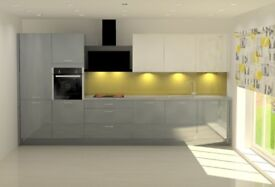 Kitchens Painted Gloss Fronts (5 colors) Delivery approx 4 Weeks, Includes Appliances