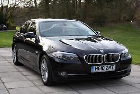 BMW 5 series F10, 520d ,automatic, satnav, tracker build in, FSH BMW, cream leather + 4 m+s tyres