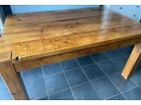 Rustic Rough Sawn Dining Table