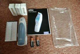 Braun Thermoscan IRT 4520 Ear Temperature Thermometer and 60 Lens Filter Caps Covers