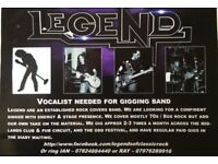 Rock covers band 'Legend' looking for a vocalist