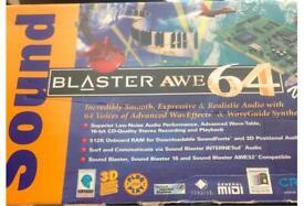 Sound blaster awe 64 soundcard