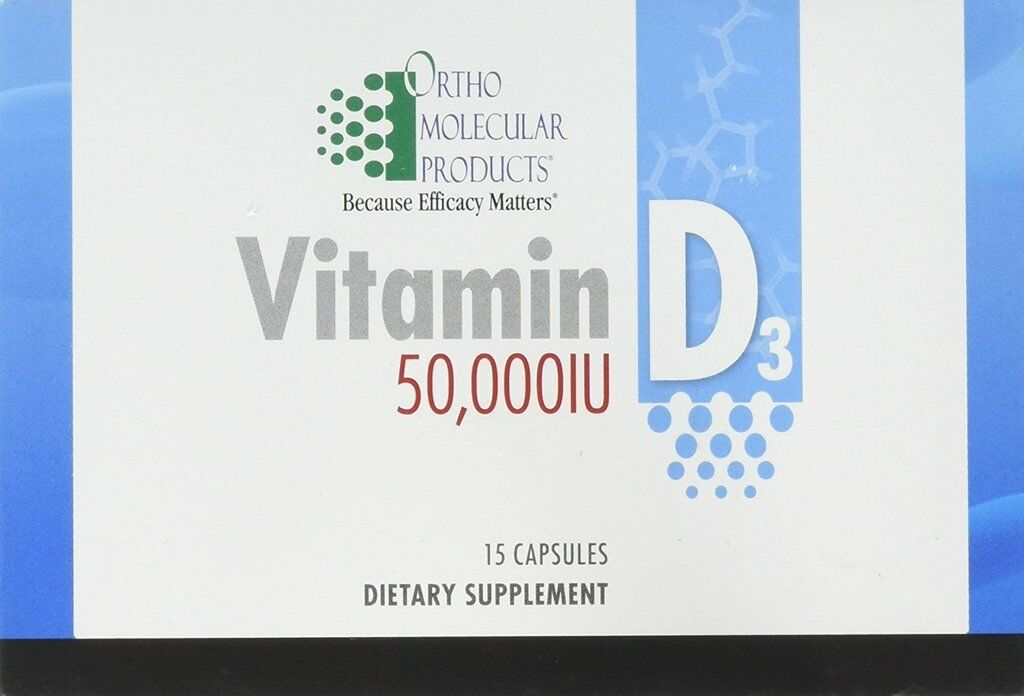 ORTHO MOLECULAR PRODUCTS VITAMIN D3  50,000 IU