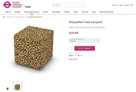 Cube seats or footstools in Leopard Moquette £30 ono