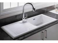 RAK Ceramics Gourmet SinkGOSINK4Reversible 1.0 Bowl White Kitchen Sink+ Waste & Overflow