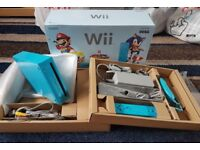 NINTENDO Wii BLUE LIMITED EDITION