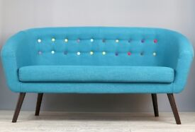 Mid Century Style Sofa in Blue