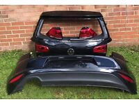 VW Golf MK7 Black Rear Bumper & Tailgate With Lights For Sale