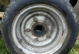 IFOR WILLIAMS TRAILER WHEEL TYRE Complete with hub bearing & 5wheel nuts £70ono
