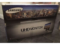 "SAMSUNG Ultra HD 3840 x 2160 4k 28"" LED Monitor -1Ms response time"