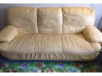 Sofa chair - 3 seater yellow Sofa