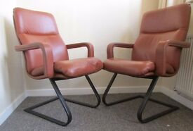 2 Retro chairs Cantilever Armchair office studio chair fireplace chairs good condition