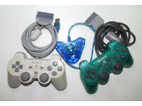 2 x original Sony Playstation (PS1, PSone, PSX) joypad controllers + USB 2 ports adapter