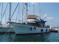 Albin 49 (Similar to Grand Banks) 1983 Cruiser In La MangaSpain PRICE REDUCED *INCLUDES MOORING*