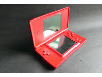 Nintendo DS Lite Red Console HandHeld Portable Game System USG-001 including 2 games