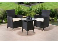 **FREE UK DELIVERY** 3-Piece Rattan Garden Conservatory Furniture - BRAND NEW!
