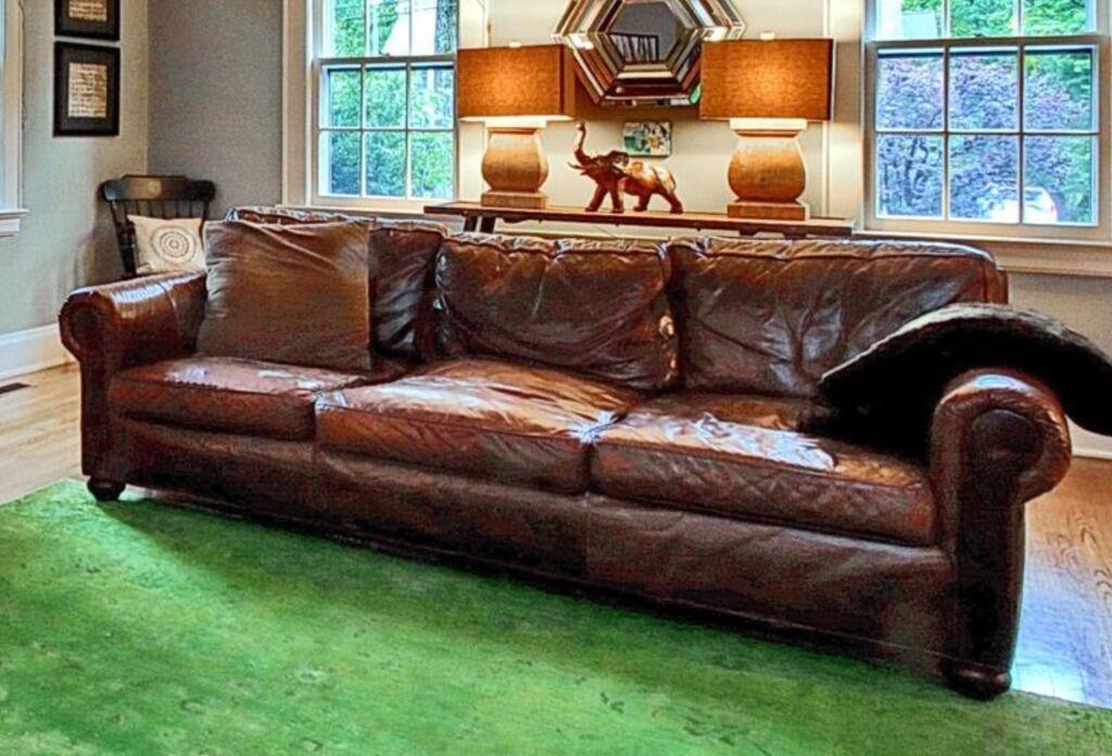 Restoration Hardware Original Lancaster Leather Sofa Couch