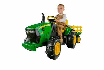 Kids Peg Perego John Deere 12V Power Pull Tractor - Green