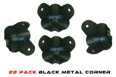 22 PACK BLACK 2 LEG CABINET METAL CORNER W/ LIP 1-3/8